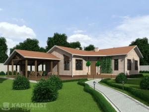 Готовые проекты частных загородных домов купить - Гостевой дом