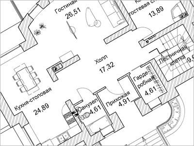 Особенности планировки помещений в загородном доме